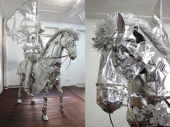 Artist Makes Epic Masterpieces Out of Aluminum Foil