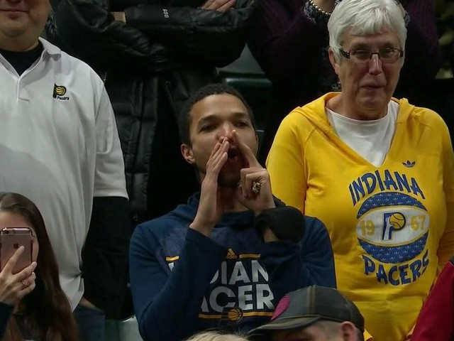 Pacers fans are booing Paul George every time he touches the ball