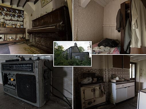 Photographer captures eerie pictures of long-abandoned Welsh house