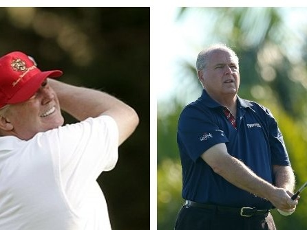 Donald Trump Plays Golf with Rush Limbaugh in Florida After Release of Mueller Report