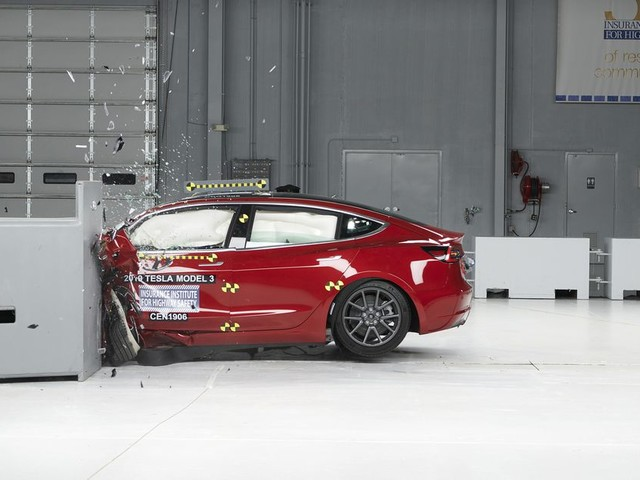 Tesla's Model 3 scores the company's first top safety award from IIHS