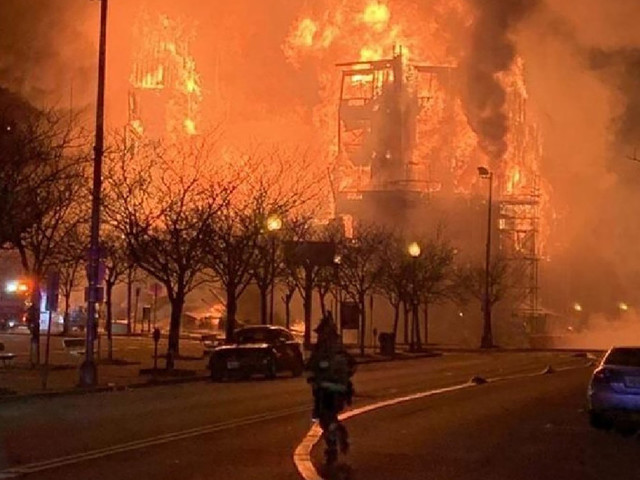 Video: Massive fire consumes several buildings in New Jersey town