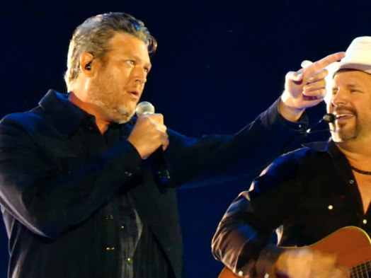 Garth Brooks Brings Blake Shelton to Boise for a Beer-and-Tears Stadium Gig (Watch)