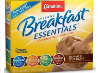 FREE Sample Carnation Breakfast Essentials Chocolate Powder Mix