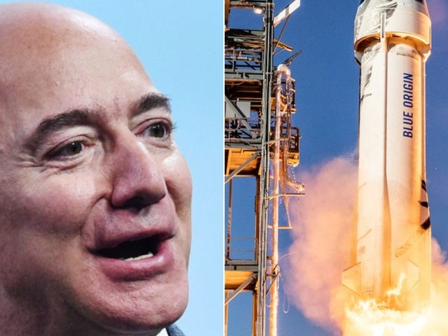 More than 41,000 people have signed petitions to stop Jeff Bezos from returning to Earth after his trip to space next month