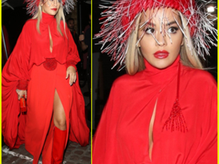 Rita Ora Wows in Red Outfit for Cartier Event in London!