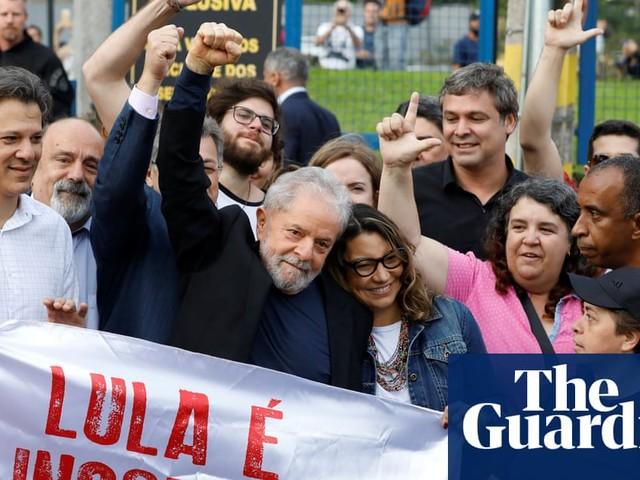 Brazil's former president Lula walks free from prison after supreme court ruling