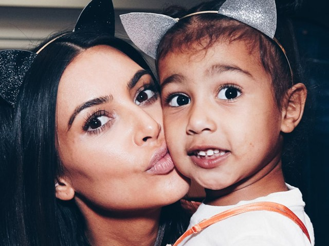 North West Wore Black Lipstick To Church — & The Internet Has Thoughts