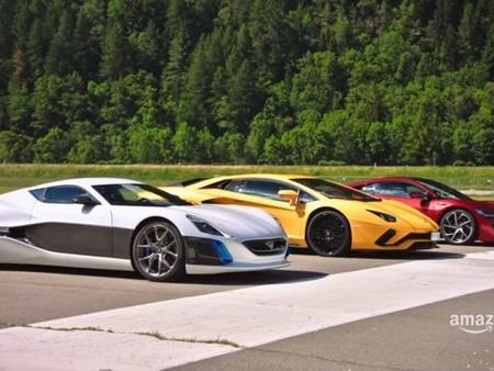 Richard Hammond Kills the Lamborghini Aventador and Acura NSX with the Rimac One