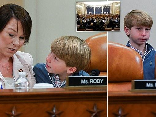 GOP Congresswoman brings her 10-year-old sonto impeachment vote