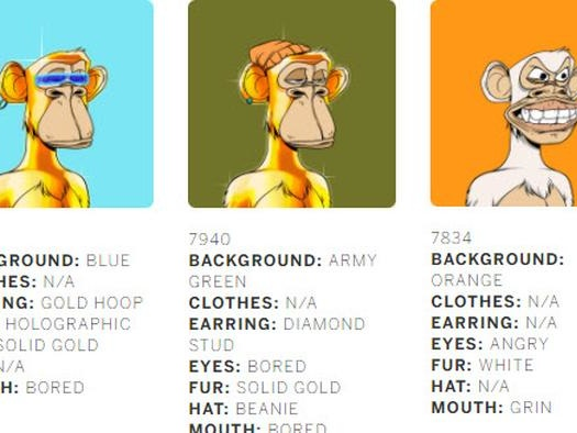 Sotheby's Just Sold A Bunch Of Ape NFTs For $24.4 Million