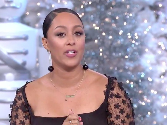 Tamera Mowry makes emotional return to 'The Real' after niece's death
