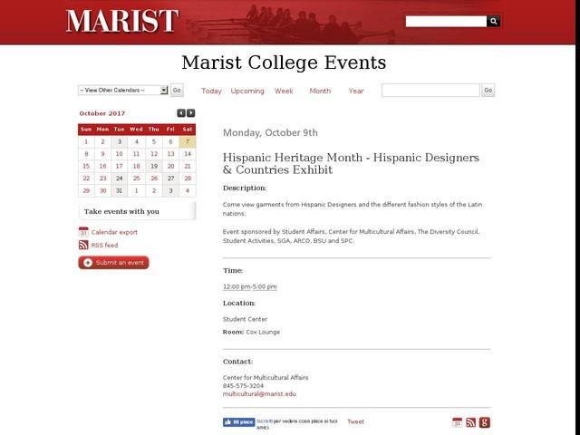 Oct 9 - Hispanic Heritage Month - Hispanic Designers & Countries Exhibit