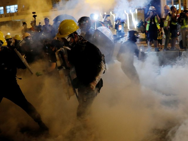 A pro-democracy march in Hong Kong was met with tear gas and police force. Here's how it happened.