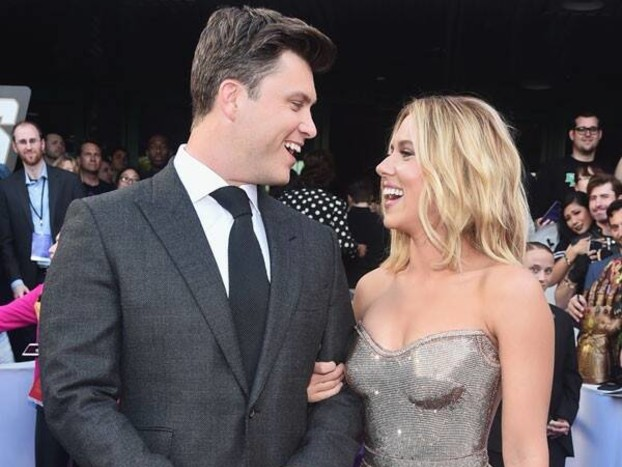 Scarlett Johansson Says Colin Jost Channeled This Action Star During His Proposal