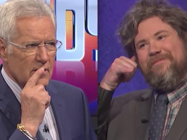 Cheeky 'Jeopardy' Champ Somehow Got Alex Trebek To Utter A Naughty Word