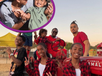 PUMPKIN PATCH CUTIES: Eniko Hart Takes Baby Kenzo + Diddy & All The Kids Get Into Their Fall Feels