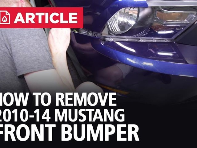 How To Remove 2010-14 Mustang Front Bumper