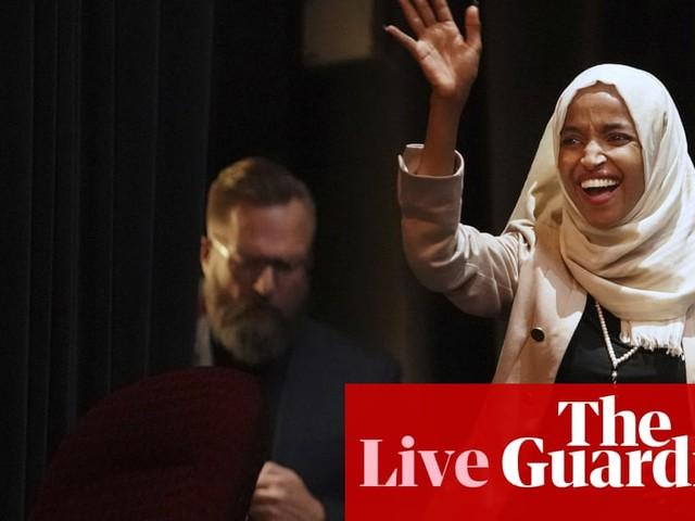 Trump renews attack on Ilhan Omar and criticizes 'crazed' media – live updates
