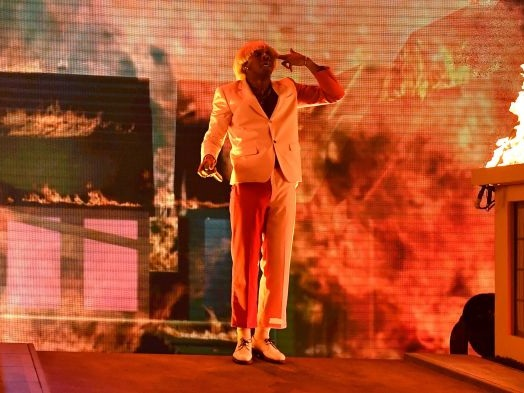 Tyler, The Creator Performs Fiery Medley at Grammys with Boyz II Men