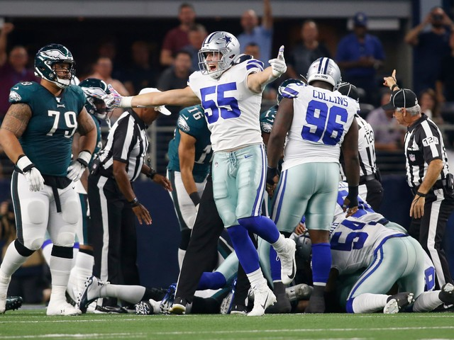 Cowboys linebacker Leighton Vander Esch to miss Patriots game due to neck injury
