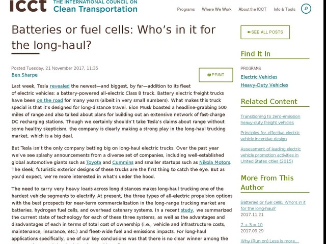 Batteries or fuel cells: Who's in it for the long-haul?