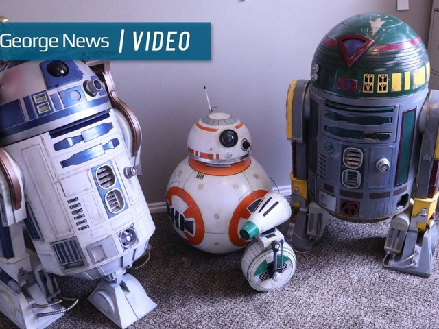 These are the droids you're looking for: 'Star Wars' hobbyists enjoy showing off custom-made creations