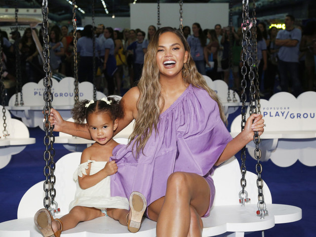 Chrissy Teigen officiates wedding for daughter's stuffed animals: 'It's a good day for a wedding'