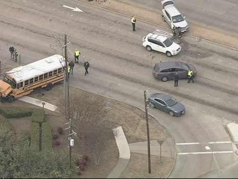 Murphy Chase Ends In Crash Involving Plano ISD School Bus