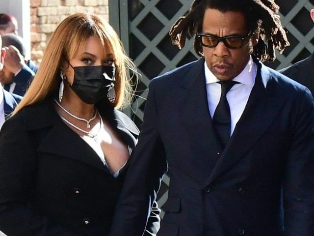 Beyoncé and Jay-Z Have a Rare Matching Fashion Moment as They Attend Wedding in Italy