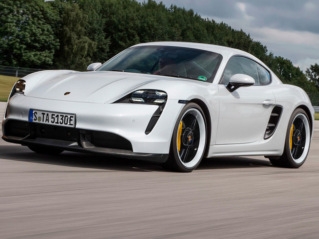 Porsche Taycan Styling Translates Well To A Future, Electric 718 Cayman