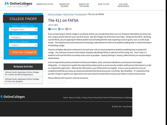 The 411 on FAFSA