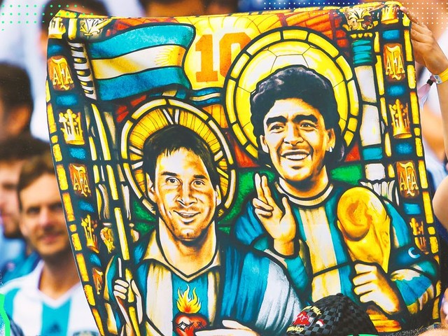 There is no competition between Lionel Messi and Diego Maradona