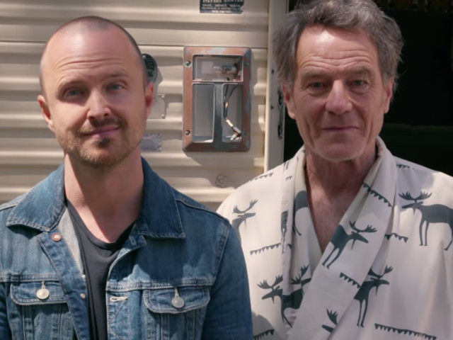 Bryan Cranston And Aaron Paul Reunite In 'Breaking Bad' RV For Charity