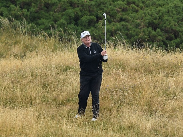 President Trump's golf scores hacked on USGA website