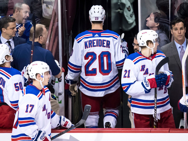 Rangers whipped by Canucks as Kreider and Lemieux get ejected