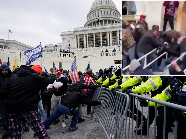 Capitol rioter allegedly dragged cop down stairs, attempted suicide
