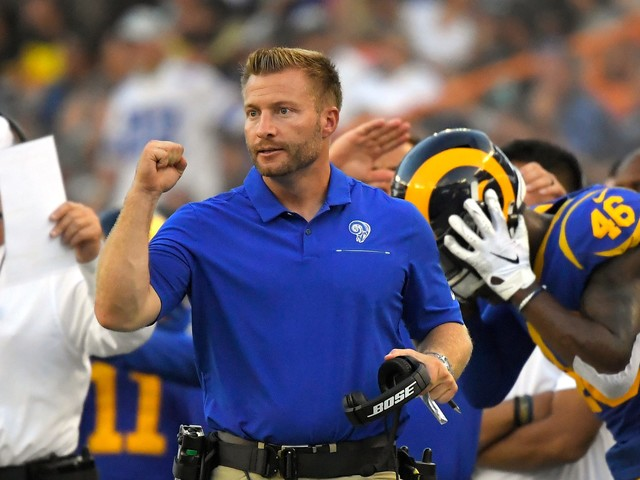Sean McVay broke down plays on TV during a Rams game, and it was delightful