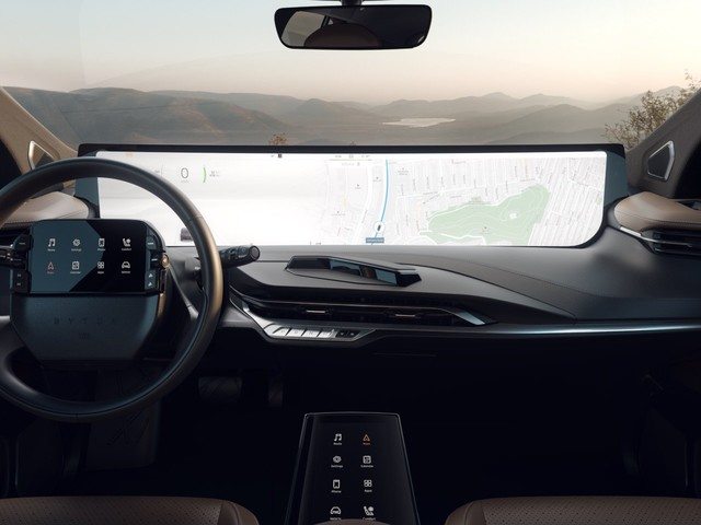 An exec from Tesla rival Byton explains why its 48-inch dashboard screen won't distract drivers