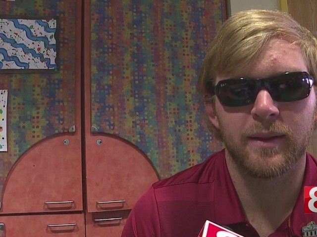 USC's blind football player Jake Olson visits children at Yale New Haven Hospital