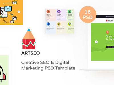 ARTSEO - Creative Seo & Digital Marketing PSD Template (Corporate)