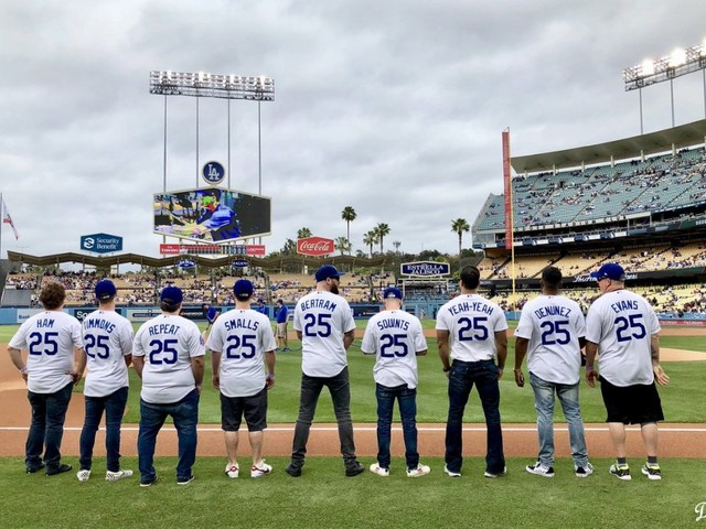 'The Sandlot' cast reunited at Dodger Stadium and it was awesome