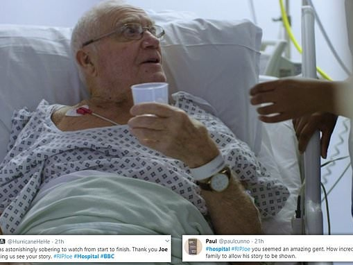 BBC viewers left in tears at 81-year-old patient's final words