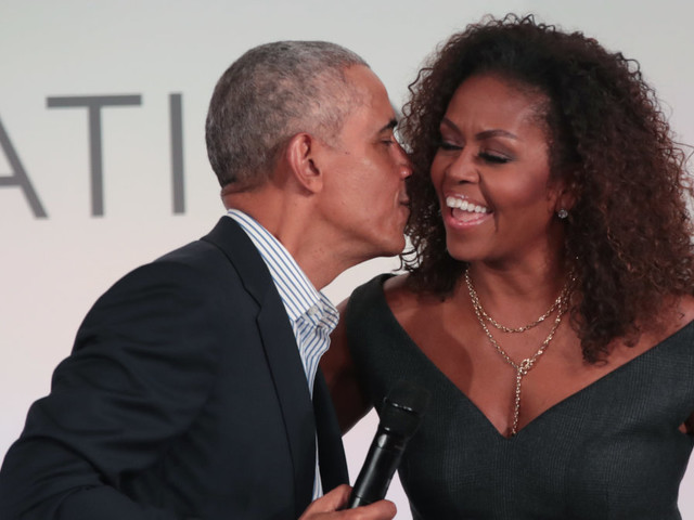 Barack and Michelle Obama celebrate 28-year marriage with urge to vote