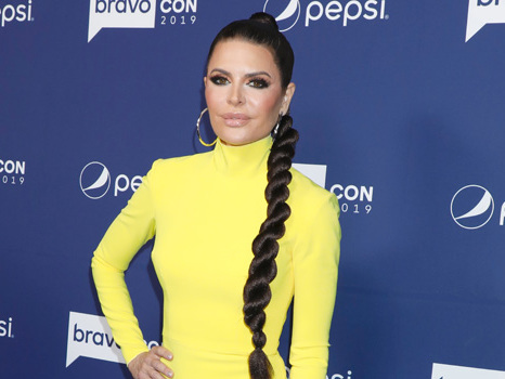 Lisa Rinna Hair Makeover: Rocks Waist-Length Twist & Stuns In Skintight Yellow Dress At BravoCon