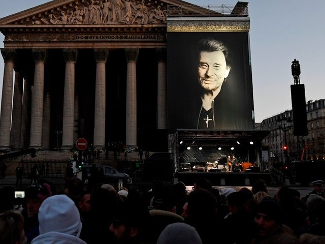 'Merci, Johnny': Hallyday Honored With Rock-Star Funeral (and Motorbikes)