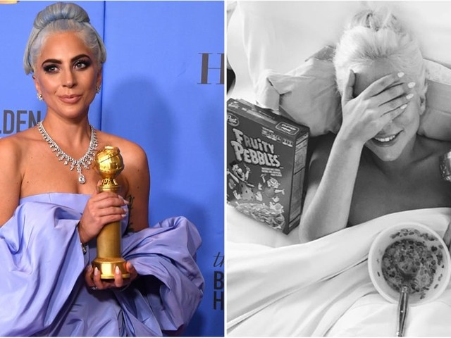 The Way Lady Gaga Celebrated Her Golden Globes Win Will Make You Love Her Even More