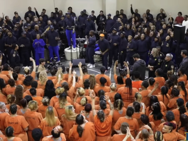 Kanye West held a surprise worship service in a jail — now an atheist group is demanding it never happen again