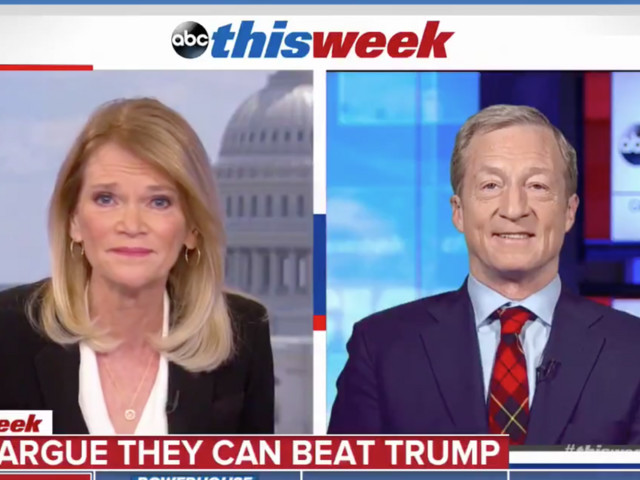 WATCH: ABC reporter stomps Dem presidential candidate Tom Steyer on Trump's strong economic record