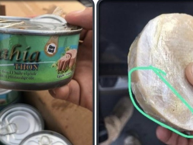 Suspected drug traffickers organized cocaine-stuffed shipments of tuna cans, pineapples, and bananas over a messaging app secretly run by the FBI